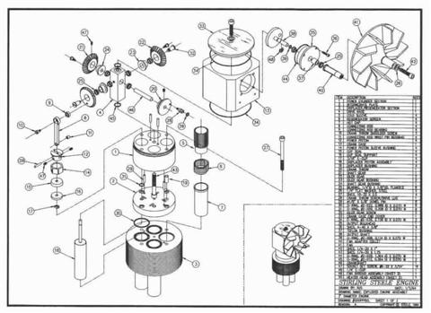 Stirling-Steele Engine Plans