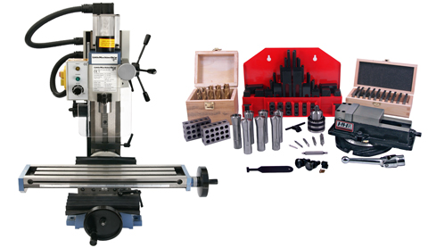 HiTorque Mini Mill, Tilting Column with Tooling Package