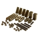 Clamping kit, 6 mm T-Slot, 36-Piece